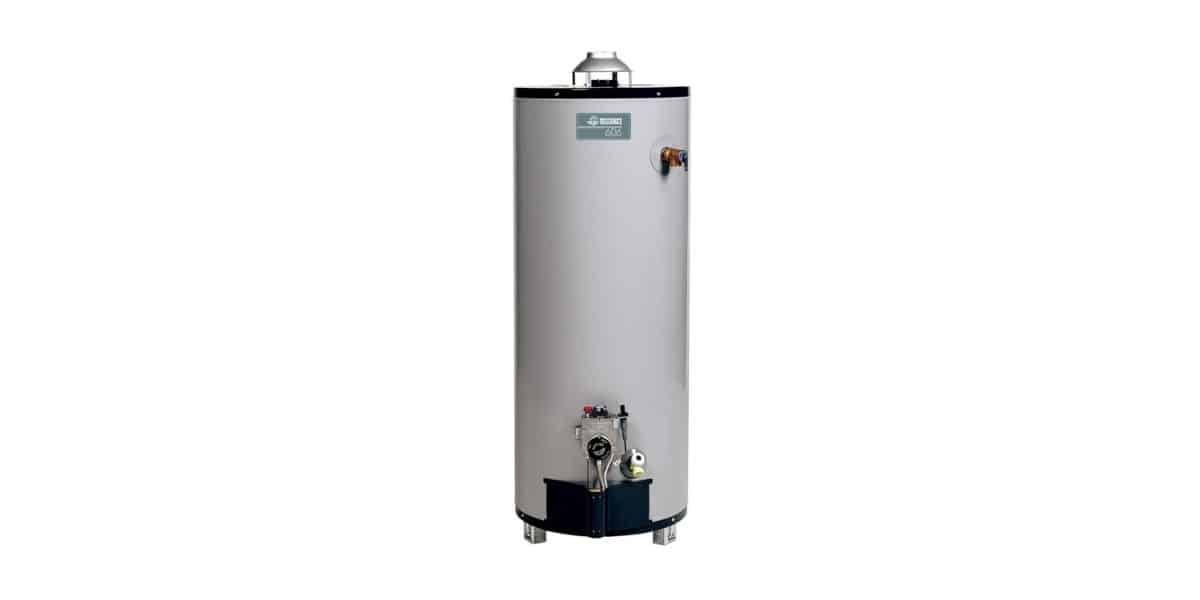 can you install a hot water heater on its side