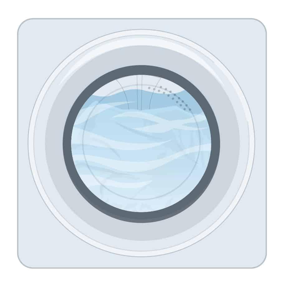 Warm washing, cold rinsing