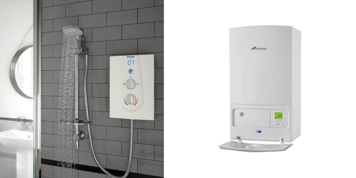 electric shower vs combi boiler