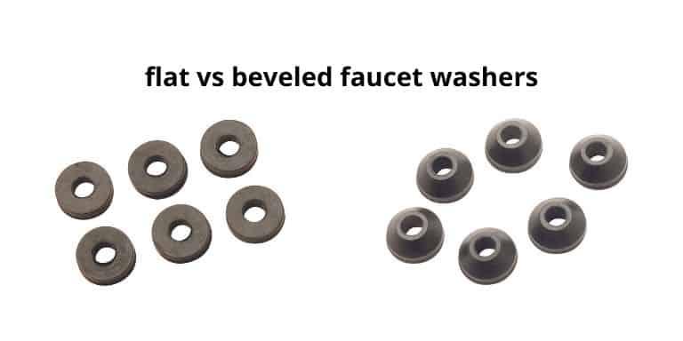 flat vs beveled faucet washers