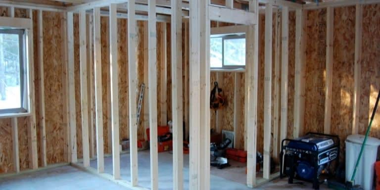 framing a wall under ductwork