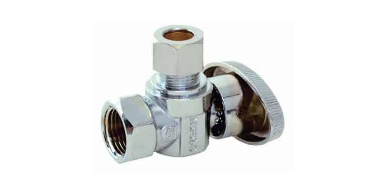 toilet shut off valve size