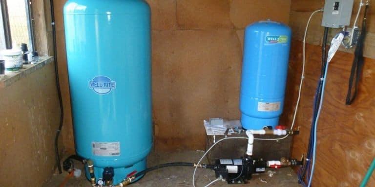 pinhole leak in water pressure tank