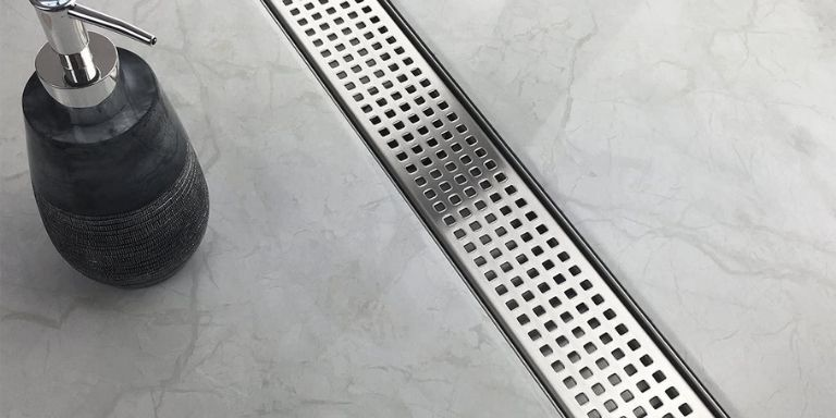 shower drain lower than tile