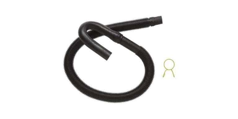 washing machine drain hose too long