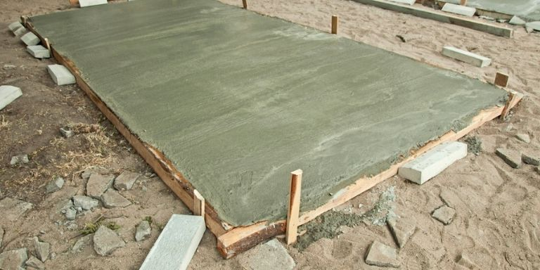 how long should a concrete slab cure before framing