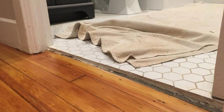 tiling uneven floor